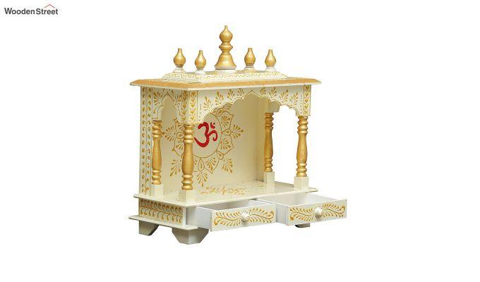 Sheesham Wood Hari OM White Home Temple-2