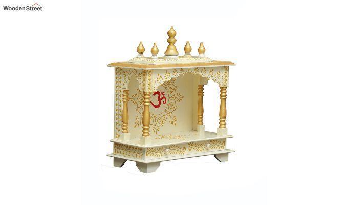 Sheesham Wood Hari OM White Home Temple-3