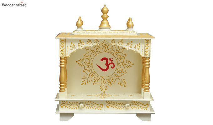 Sheesham Wood Hari OM White Home Temple-4