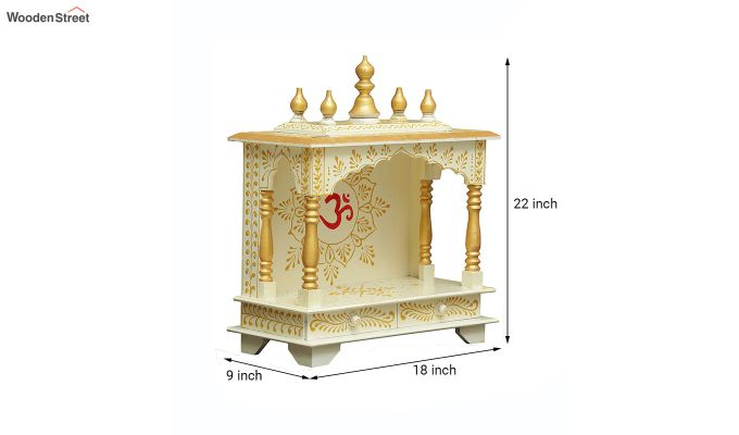 Sheesham Wood Hari OM White Home Temple-5