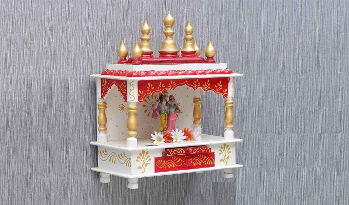 Sheesham Wood Multicolour Home Temple-1