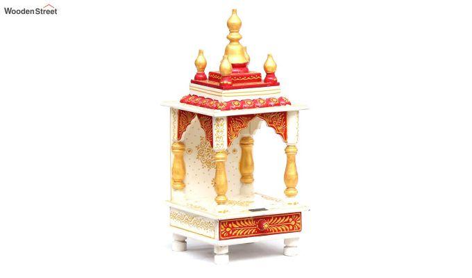 Sheesham Wood Multicolour Pooja Mandir Without Door-1