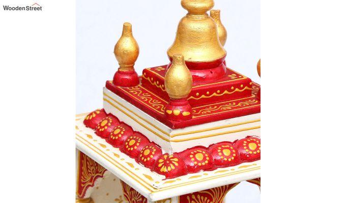 Sheesham Wood Multicolour Pooja Mandir Without Door-3