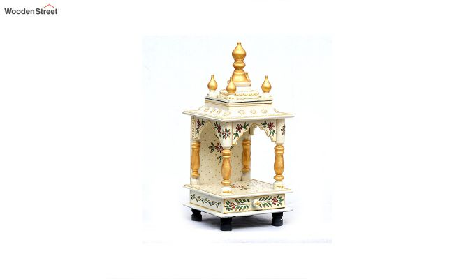 Sheesham Wood Multicolour Pooja Mandir-1