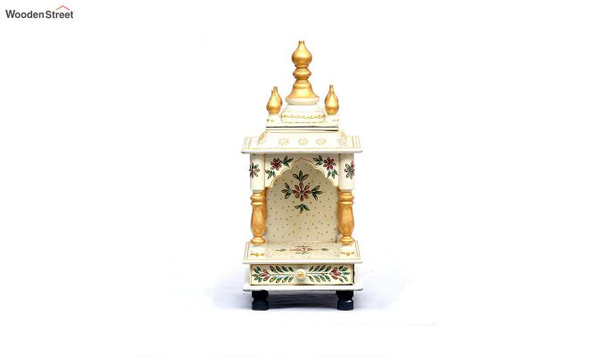 Sheesham Wood Multicolour Pooja Mandir-2