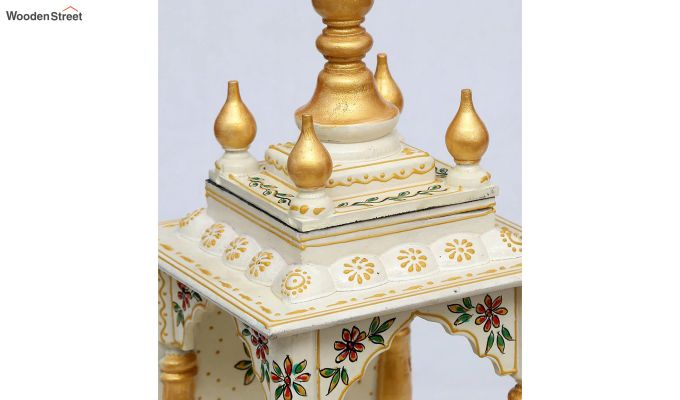 Sheesham Wood Multicolour Pooja Mandir-3