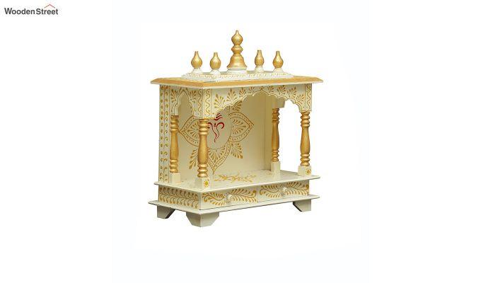 Sheesham Wood Shri Ganesha White Home Temple-2