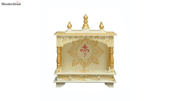 Sheesham Wood Shri Ganesha White Home Temple-3