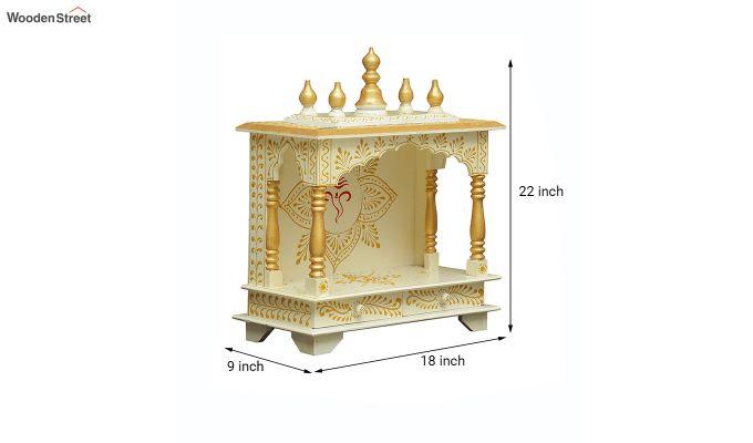 Sheesham Wood Shri Ganesha White Home Temple-5