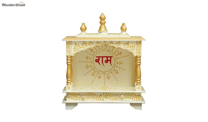 Sheesham Wood Shri Ram White Home Temple-2
