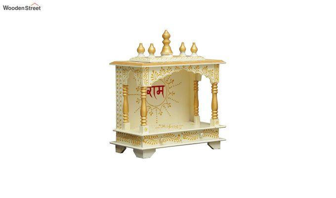 Sheesham Wood Shri Ram White Home Temple-3