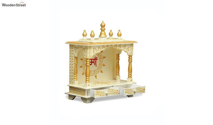 Sheesham Wood White Home Temple-2