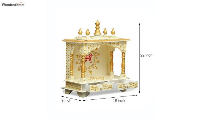 Sheesham Wood White Home Temple-5