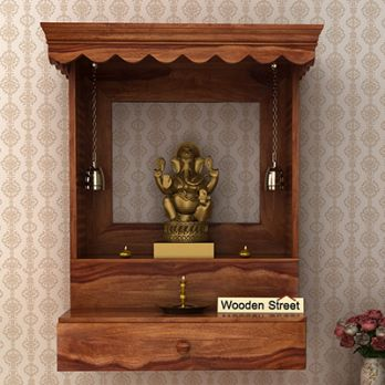 Wooden Home Temple Buy Pooja Mandir For Home Online At 55