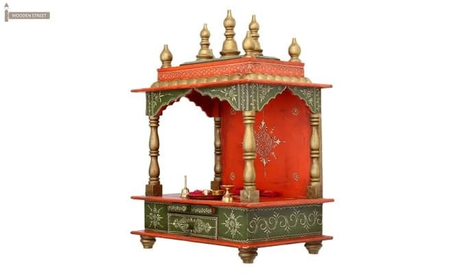 Vrindavan Home Temple (Green and Red)-2