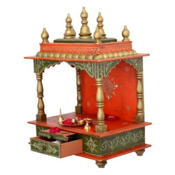 Wooden Temple : Buy Pooja Mandir for Home @ Wooden Street
