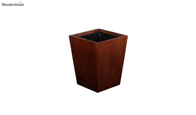 Mango Wood Dark Brown Open Dustbin-2