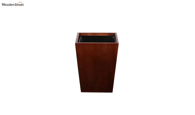 Mango Wood Dark Brown Open Dustbin-3