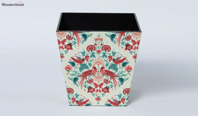 Multicolour Wooden 9 Ltr Open Dustbin-2