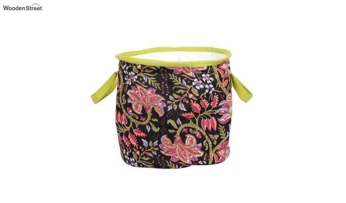 Black Multipurpose Cotton Laundry Basket-4