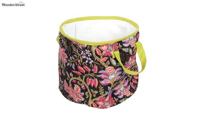 Black Multipurpose Cotton Laundry Basket-6