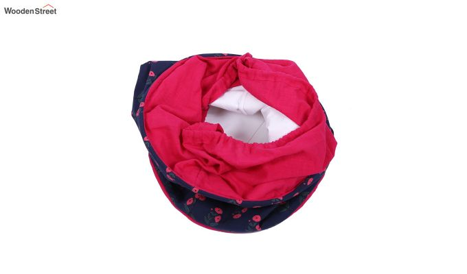 Blue and Pink Multipurpose Cotton Laundry Basket-4
