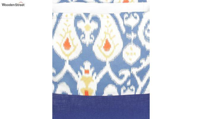 Blue and White Multipurpose Cotton Laundry Basket-4