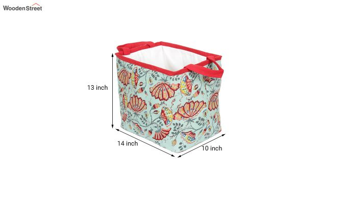 Green Multipurpose Cotton Laundry Basket-6