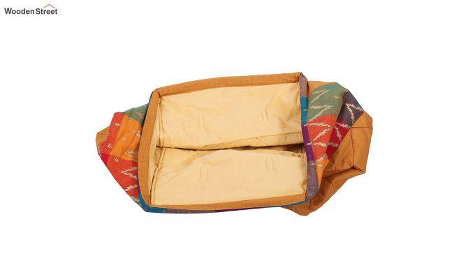 Orange Multipurpose Cotton Laundry Basket-4