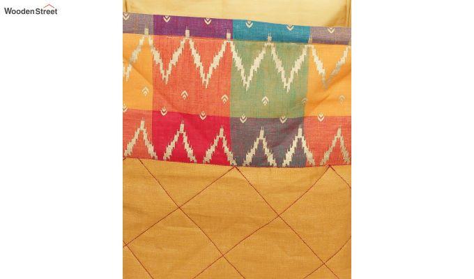 Orange Multipurpose Cotton Laundry Basket-5