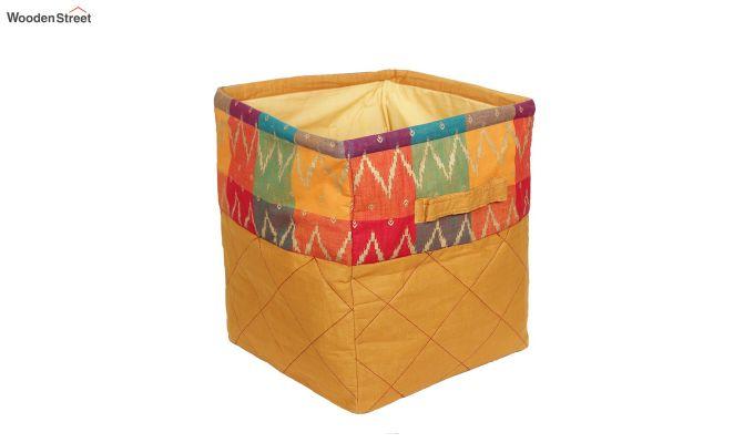 Orange Multipurpose Cotton Laundry Basket-3