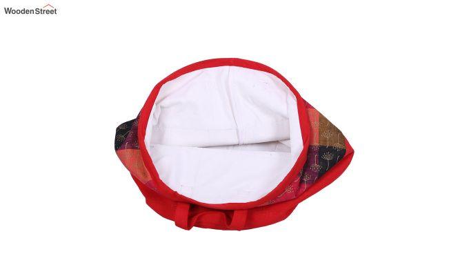 Red Multipurpose Cotton Laundry Basket-3