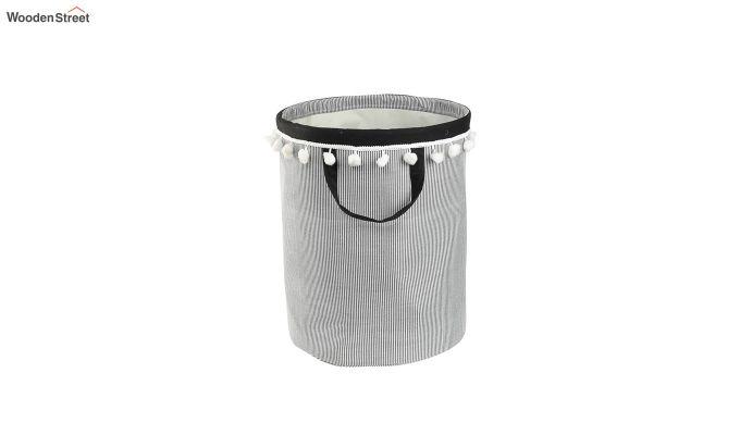 White Cloud Patch Cotton Laundry Basket-3