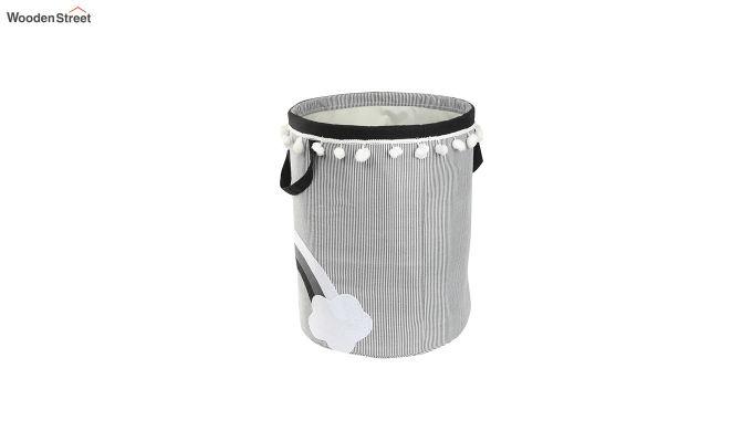 White Cloud Patch Cotton Laundry Basket-4