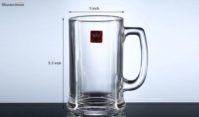 Premium Quality 420 ML Beer Mugs - Set of 2-4
