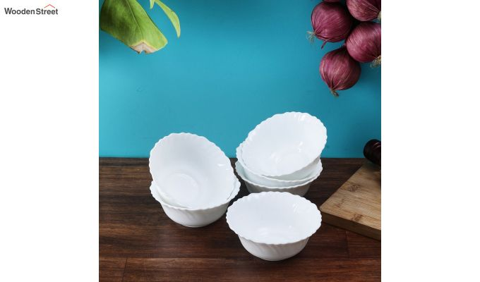 Opalware 4.5 inches Veg Bowls - Set of 6-1