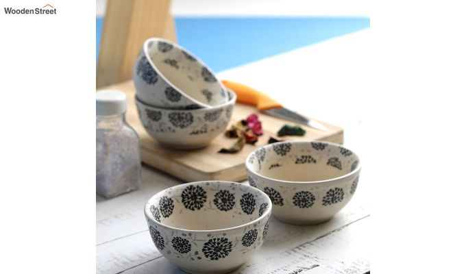 Stoneware 250 ML Serving Bowls - Set of 4-1