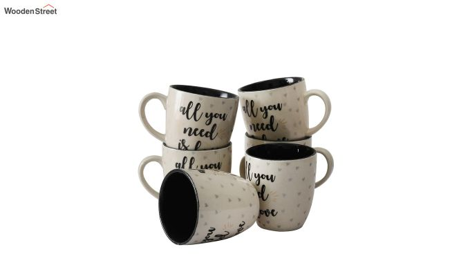 250 ML Capacity Ceramic Coffee Mugs - Set of 6-3