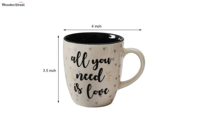 250 ML Capacity Ceramic Coffee Mugs - Set of 6-6