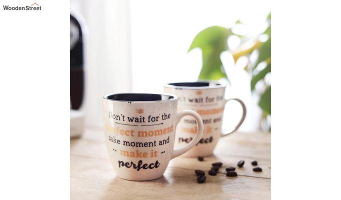250 ML Ceramic Coffee Mugs - Set of 6-1