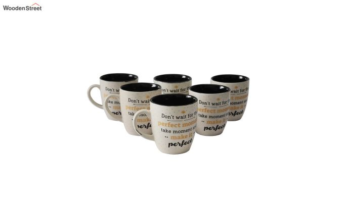 250 ML Ceramic Coffee Mugs - Set of 6-2