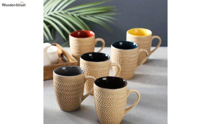 300 ML Ceramic Coffee Mugs - Set of 6-1