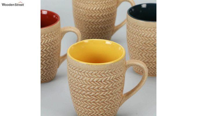 300 ML Ceramic Coffee Mugs - Set of 6-3