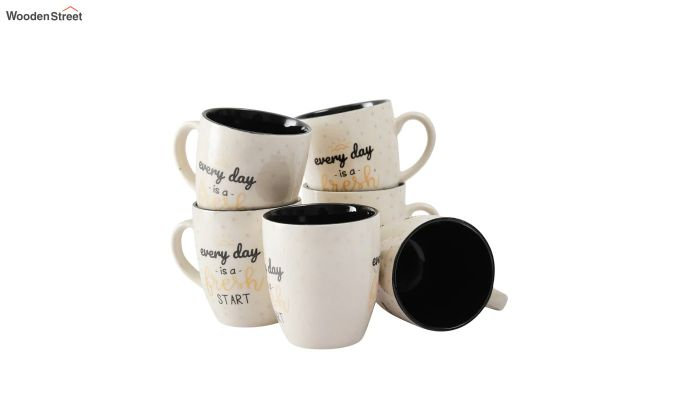 Ceramic 150 ML Coffee Mugs - Set of 6-3