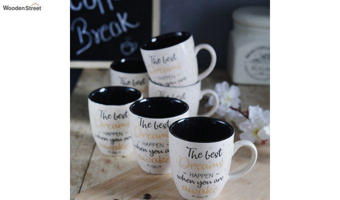 Ceramic 200 ML Coffee Mugs - Set of 6-1