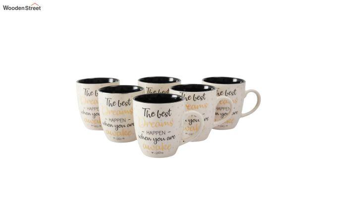 Ceramic 200 ML Coffee Mugs - Set of 6-2