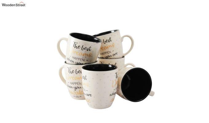 Ceramic 200 ML Coffee Mugs - Set of 6-3
