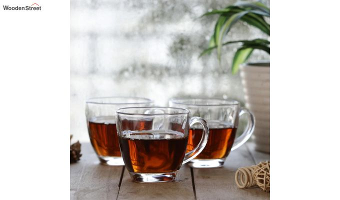 180 ML Glass Square Cups - Set of 6-1
