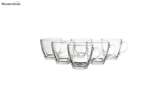 180 ML Glass Square Cups - Set of 6-2