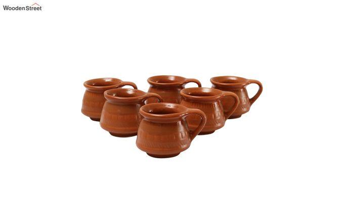Ceramic Brown 100 ML Cups - Set of 6-2